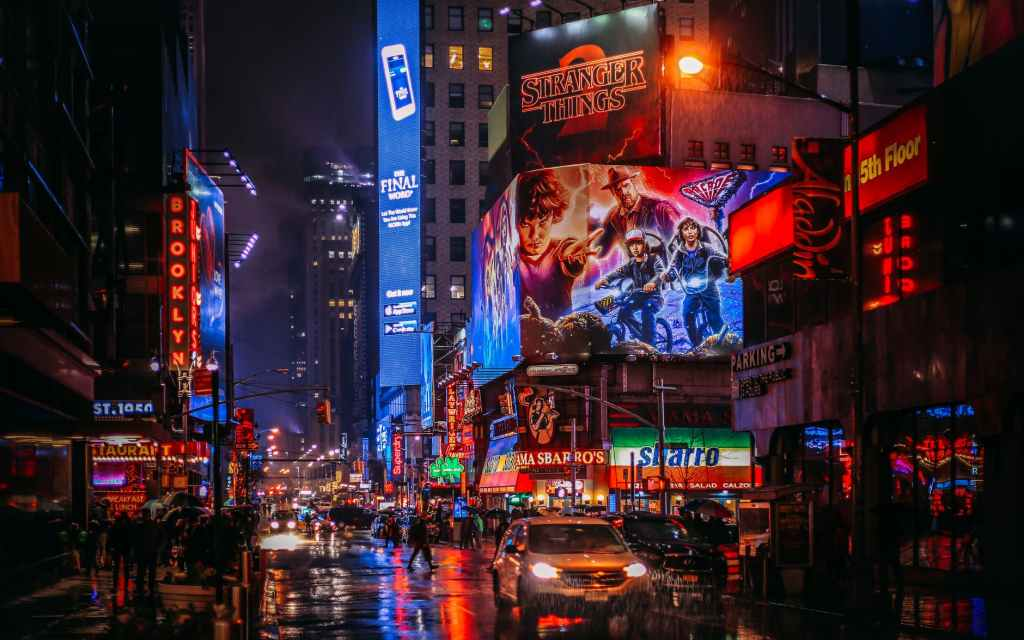 Nightime cityscape